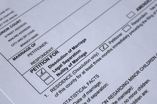 court legal form for divorce